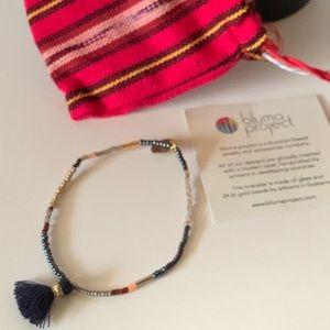 Bluma Project Beaded Stretch Tassel Bracelet NIB